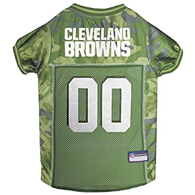 NFL Cleveland Browns Camouflage Dog Jersey, X-Large. - CAMO PET Jersey Available in 5 Sizes & 32 NFL Teams. Hunting Dog Shirt