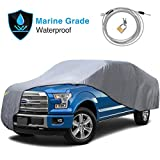 KAKIT Waterproof Truck Cover 210D Oxford Heavy Duty Pickup Cover UV Protection Windproof with Straps & Lock, Universal Fit Length Up to 250