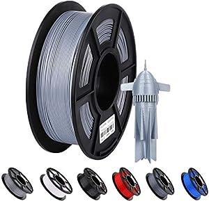 ANYCUBIC - Filamento PLA per stampante 3D, diametro 1,75 mm, 1 kg di schiuma PLA ad alta precisione, 340 m di filamento PLA per stampanti 3D con tecnologia Desktop FDM o FFF (argento)