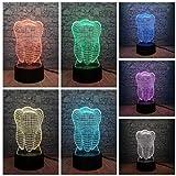 Luz de noche para niños Dientes de diente 3D Lámpara USB Led Ambiente RGB Luz de noche Colorido Niños Juguete Dormitorio Escritorio Mesa Luz táctil como regalo para decoración de dentista