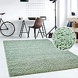 Hochflor Teppich | Shaggy Teppich fürs Wohnzimmer Modern & Flauschig | Läufer für Schlafzimmer, Esszimmer, Flur und Kinderzimmer | Langflor Carpet Soft Mint 060x090 cm