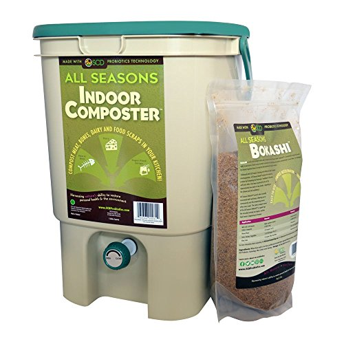 Why Choose SCD Probiotics All Seasons Indoor Composter, Easy Start Countertop Kitchen Compost Bin wi...