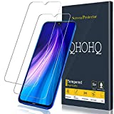 [2-Pack] QHOHQ Screen Protector for Xiaomi Mi 9 Lite,Redmi Note 8,Redmi Note 7,Redmi 7, [9H Hardness] [Bubble Free] HD Transparent Scratch-Resistant Tempered Glass