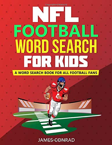 NFL Football Word Search For Kids: A Word Search Book For All Football Fans