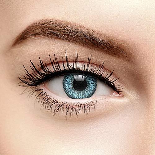 chromaview 2 Ton Farbige Kontaktlinsen mit Stärke Himmelblau (90 Tage) - -1.50