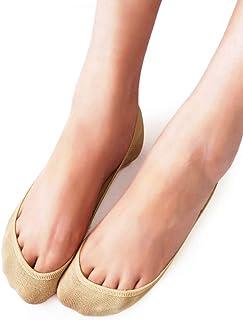 VERO MONTE 4 Pairs Womens TRULY No Show Socks - Ultra Low Cut Socks Flat Socks