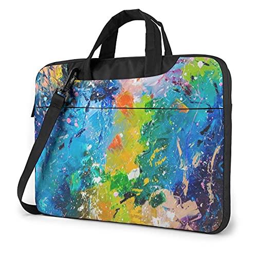 LAOLUCKY Laptop Bag Briefcase Shoulder Bag Laptop Bag Satchel Tablet Bussiness Carrying Handbag Laptop Sleeve for Women and Men - acrylic paint Oil painting art