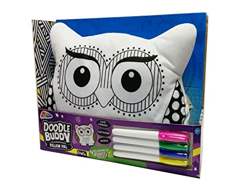 Grafix Owl Cushion Doodle Buddy Toy Colour Your Own Pillow