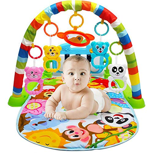 YSYDE Baby Play Piano Gym Playmat, Infant Pedal Play Music Mat, Newborn Activity Gym Lay Play, Kick Play Lay Sit Toy, por 0-18 Meses Bebé