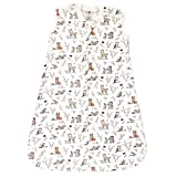Hudson Baby Unisex Baby Premium Quilted Sleeveless Sleeping Bag and Wearable Blanket, Enchanted Forest, 18-24 Months
