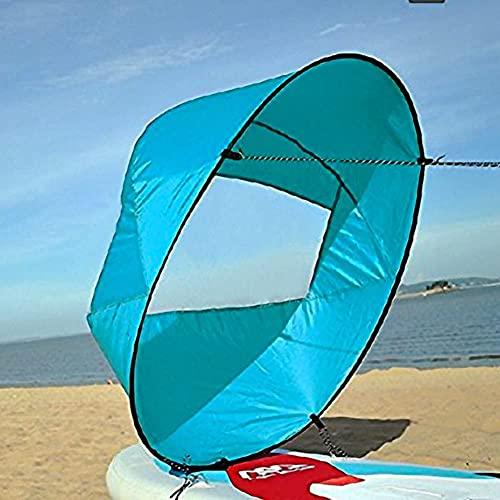 VGEBY Vela para Kayak, Kayak Vela Paddle 42 Pulgadas Accesorios de Kayak Canoa Compacto y Portátil (Color : Azul)