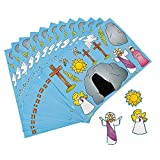 """Fun Express """"He Lives!"""" Jesus Make a Sticker Scenes for Easter (Set of 12) Sunday School and Religious Supplies"""
