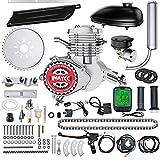 IMAYCC 80cc Bicycle Engine Kit 2-Stroke Electric Motorbike kit Fit for 26' 28' Bikes 2-Stroke Petrol Gas Bicycle Motor Kit (Silver)