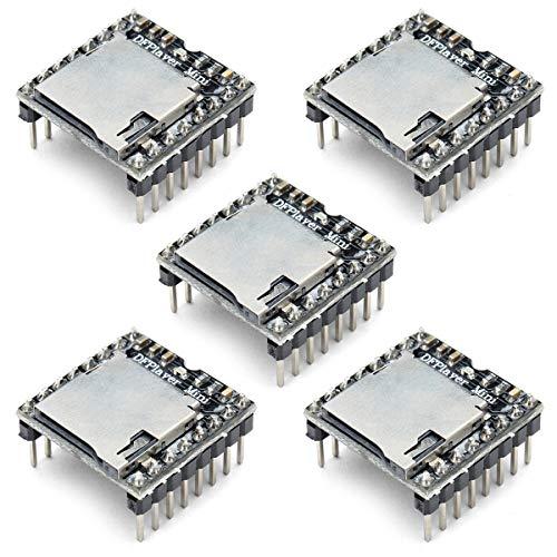YOUMILE 5er Pack U Disk Mini MP3 DFPlayer-Player-Modul Audio Voice Board Shield Für Arduino UNO