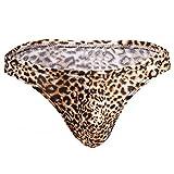 Tenchif Hombres de Leopardo Sexy Tanga Slip Ropa Interior