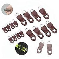 16個ユニバーサル取り外し可能なジッパープルセット、スーツケース、バックパック、服、バッグ、荷物用のU字型ジッパープル (褐色)