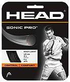 Head 281028 Sonic Pro Cordage pour raquette de tennis Noir 12 m - 1.25mm