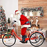 【US Fast Shipment】Adult Tricycle Bike 1/7 Speed 3-Wheel Bikes for Shopping W/Installation...