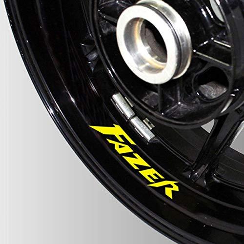 Luyangyund Pegatinas Reflectantes Impermeables de la Motocicleta Pegatinas de neumáticos Rim In Tecalas Decorativas internas Parche de Rueda para Yamaha Fazer (Color : 09)