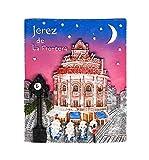 zamonji Jerez de la Frontera, Souvenir de España | 3D Imanes para Refrigerador Imán de Nevera de Resina | Recuerdos de Viaje