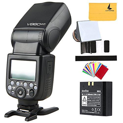 Godox V860II-F TTL Flash HSS 2.4G Li-on Batteria Fotocamere Flash Speedlite per Fuji X-Pro2/X-T20/X-T2/X-T1/X-Pro1/X-T10/X-E1/X-A3/X100F/X100T (V860II-F)