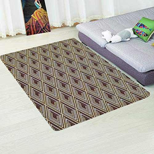MMHJS European Style Simple Geometric Color Rectangular Carpet Non-Slip Absorbent Coffee Table Sofa Mat Bedroom Hotel Homestay Living Room Carpet