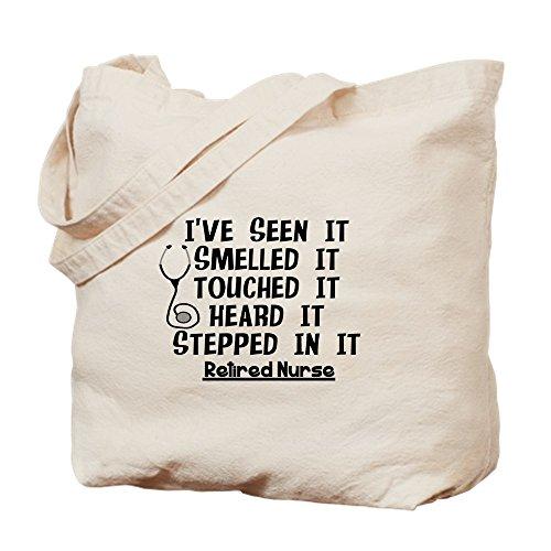 CafePress Nurse Retirement Quotes Natural Canvas Tote Bag, Reusable Shopping Bag