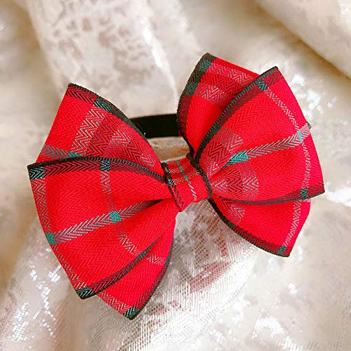 SYQY Pet bow tie bow tie bow tie necklace cat dog small medium large dog dog bow tie-Red box_M-medium