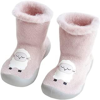 Cartoon Middle Tube Xiang Ru Newborn Toddler Baby Anti-slip Slipper Floor Socks Velvet Thick