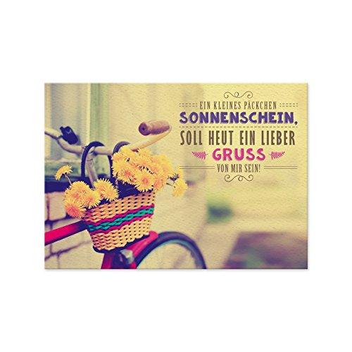 Sheepworld, Gruss & Co - 77555 - Postkarte, Retro Nr. 21, Ein kleines Päckchen Sonnenschein, soll heut ein lieber Gruss von mir sein!