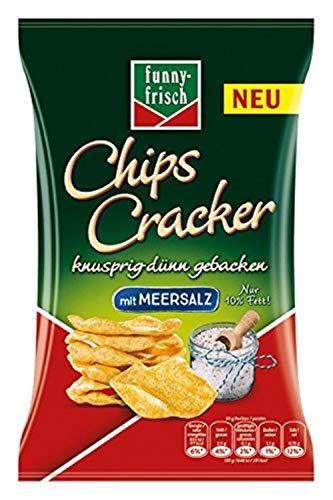 funny-frisch Chips Cracker Meersalz, 12er Pack (12 x 90 g)