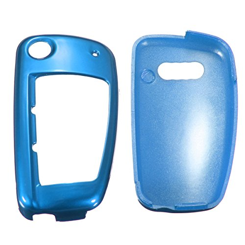 C-FUNN Remote Flip Key Cover Case Fob Protection pour Audi A1 A3 A4 A6 Q3 Q5 TT Us-Bleu