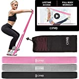 3 Fabric Long Resistance Bands Set, Pull Up Bands, Full Body Workout Bands Resistance for Women with Video Training