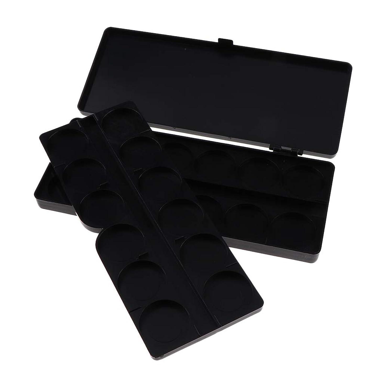 精緻化フレアバイオレットT TOOYFUL 全3色 ガッシュ/水彩画/アクリルオイルペイント用 ネイルアート 化粧品 混合パレット 顔料パレット - ブラック