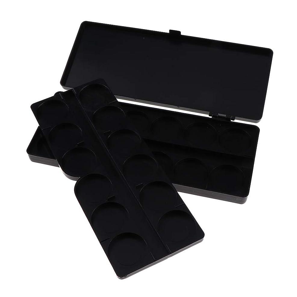 密輸マディソンスピンT TOOYFUL 全3色 ガッシュ/水彩画/アクリルオイルペイント用 ネイルアート 化粧品 混合パレット 顔料パレット - ブラック