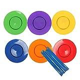 KESOTO 6X Platos De Spinning De Plástico Juego De Palillos Classic Toy Performance Prop Kid Adulto