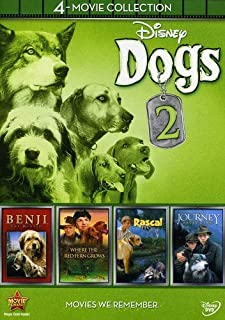 Disney Dogs 2: 4-Movie Collection (Journey Natty Gan /Rascal / Benji the Hunted / Where the Red Fern Grows)