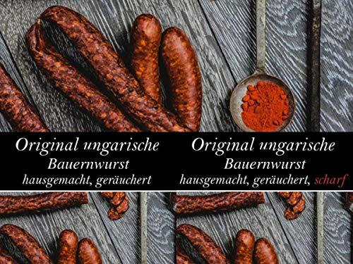 Ungarische Bauernwurst - magyar kolbász - scharf und mild - 2 x 500g
