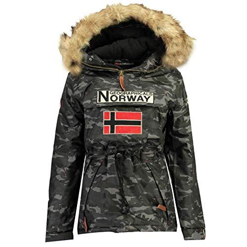 Geographical Norway Blouson/Doudoune Boomerang Camouflage, Homme (XXXL, Noir)