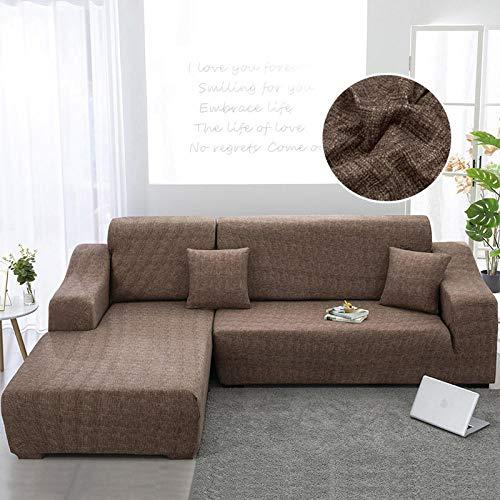 B/H Fundas de sofá de Esquina,Fundas de sofá para Sala de Estar Estiramiento en Forma de L Sofá de Esquina Slipcover-16_145-185cm,Elastano elástico Funda de sofá