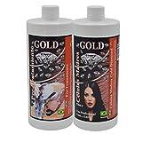 Gold DIAMOND - CELULAS MADRES - KIT ALISADO BRASILEÑO - Producto especial para alisar y fortalecer cabellos quebradizos y debilitados, ademas de alisar, fortalece y estimula el crecimiento del cabello