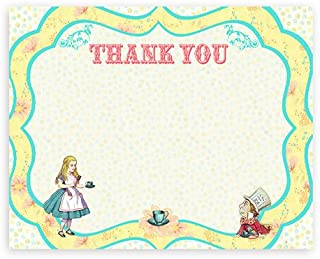 POP parties Alice in Wonderland - 10 Thank You Note Cards + 10 Envelopes