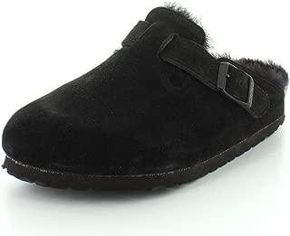 Birkenstock Womens Boston Shearling Leather Closed Toe Casual Slide Sandals