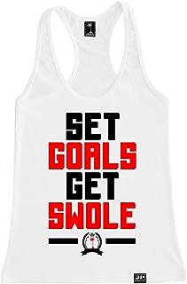 Women's Set Goals Get Swole Racerback Tank Top