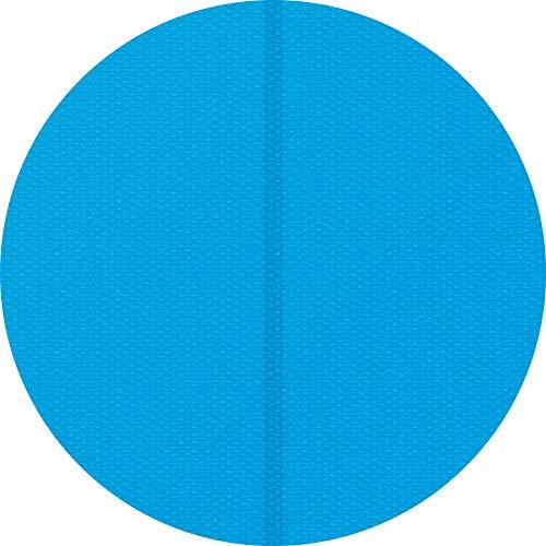 TecTake 800712 Pool Solarabdeckplane, schnellere Wassererwärmung & geringere Wasserverdunstung, rund, blau - Diverse Größen - (2,5 m | Nr. 403106)