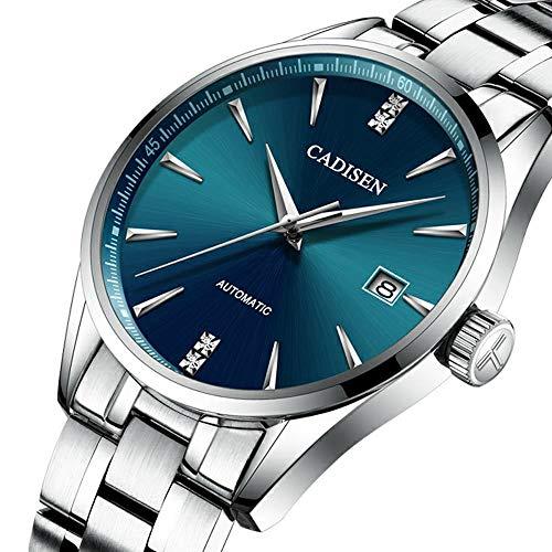 Reloj de Acero Inoxidable para Hombre, Relojes Mecánicos Automáticos Fecha Calendario...