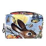 Bolsa Maquillaje Almacenamiento organización Artículos tocador cosméticos Estuche portátil Patos de Conejo de Dibujos Animados Infantil para Viajes Aire Libre