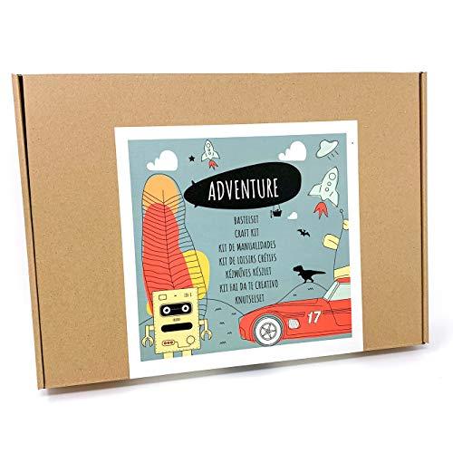 PepMelon - JB33003 - Jumbo Box Adventure - Bastelset Kinder, Kreativset Jungen ab 6-8 Jahre, Geschenkidee für Kindergeburtstag Basteln, Spielen mit Mädchen und Junge, Bastelbox Geschenke 9-12 jährige