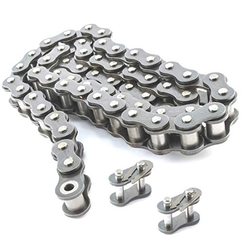 PGN - #40 Nickel Plated Roller Chain x 10feet - Anti-Corrosion #40NP + 2 Free Connecting Links