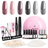 Best Gel Kits - Modelones Gel Nail Polish Kit Popular Nude Grays Review